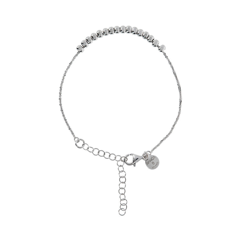 SUCH A PERFECT DAY MYESSENTIALS DIAMOND CUT MARGHERITA  BRACELET  WITH POLISHED  SLIDE PEPITE  - WSBC00249