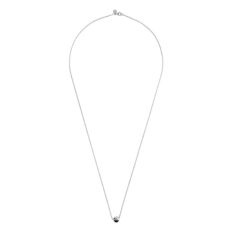 SUCH A PERFECT DAY MYESSENTIALS DIAMOND CUT MARGHERITA NECKLACE WITH POLISHED SLIDE  BEAD - WSBC00251 from above