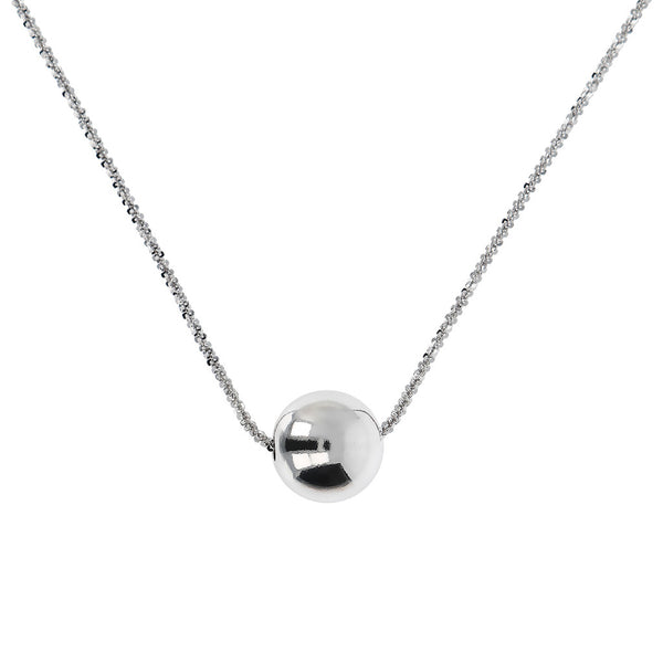 SUCH A PERFECT DAY MYESSENTIALS DIAMOND CUT MARGHERITA NECKLACE WITH POLISHED SLIDE  BEAD - WSBC00251
