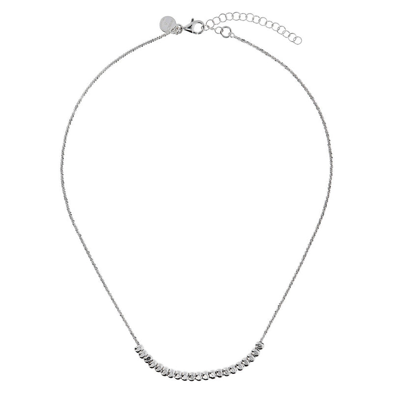 SUCH A PERFECT DAY MYESSENTIALS DIAMOND CUT MARGHERITA NECKLACE WITH POLISHED  SLIDE PEPITE  - WSBC00250 from above