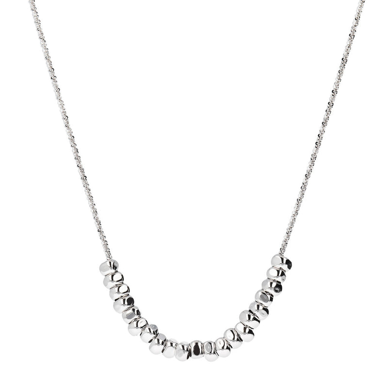 SUCH A PERFECT DAY MYESSENTIALS DIAMOND CUT MARGHERITA NECKLACE WITH POLISHED  SLIDE PEPITE  - WSBC00250