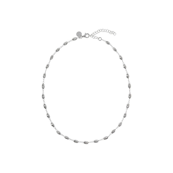 SUCH A PERFECT DAY MYESSENTIALS DIAMOND CUT OVALS  FISH HOOK Curb NECKLACE - WSBC00175 from above