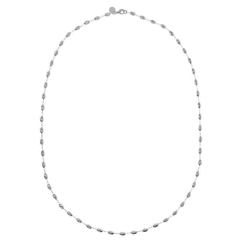 SUCH A PERFECT DAY MYESSENTIALS DIAMOND CUT OVALS  FISH HOOK Curb NECKLACE - WSBC00175