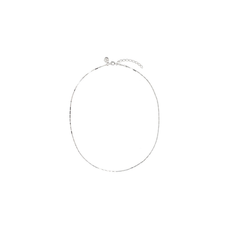 SUCH A PERFECT DAY MYESSENTIALS DIAMOND CUT SQUARED TUBE necklace - WSBC00173 from above