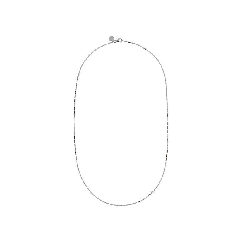 SUCH A PERFECT DAY MYESSENTIALS DIAMOND CUT SQUARED TUBE necklace - WSBC00173