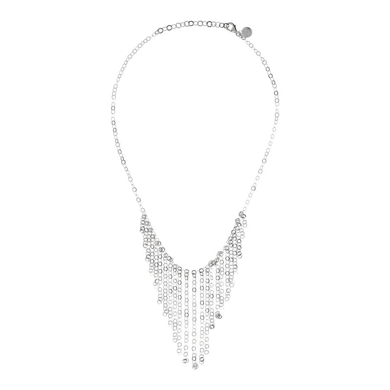 SUCH A PERFECT DAY MYESSENTIALS FORZATINA DIAMOND CUT WITH  GRADUATED FRINGE TASSEL NECKLACE - WSBC00223 from above