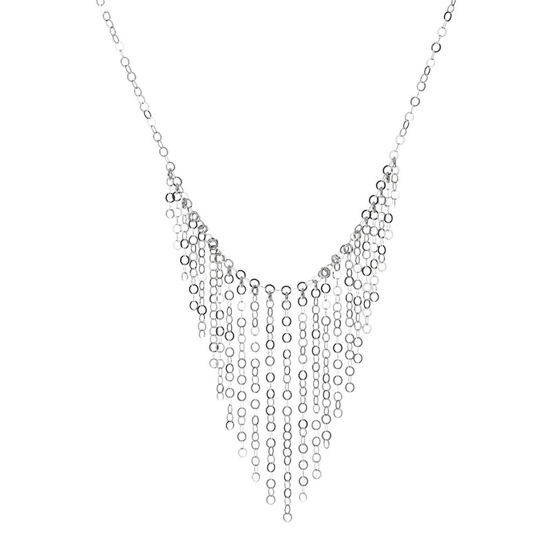SUCH A PERFECT DAY MYESSENTIALS FORZATINA DIAMOND CUT WITH  GRADUATED FRINGE TASSEL NECKLACE - WSBC00223