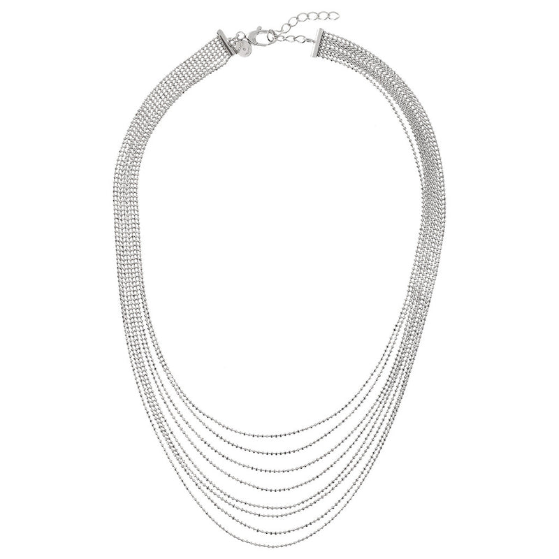SUCH A PERFECT DAY MYESSENTIALS NECKLACE WITH GRADUATED MULTISTRANDS BEADED CHAIN  - WSBC00180 from above