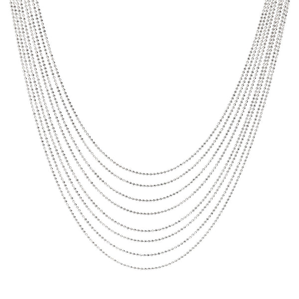 SUCH A PERFECT DAY MYESSENTIALS NECKLACE WITH GRADUATED MULTISTRANDS BEADED CHAIN  - WSBC00180
