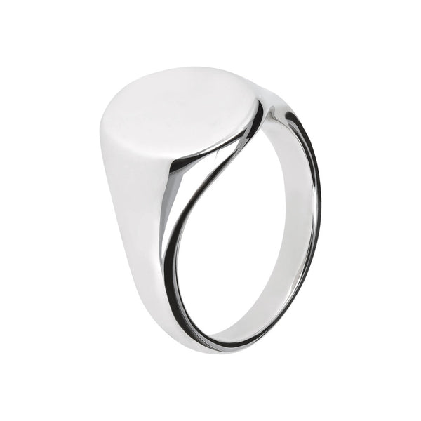 SUCH A PERFECT DAY MYESSENTIALS POLISHED OVAL SEAL RING - WSBC00098
