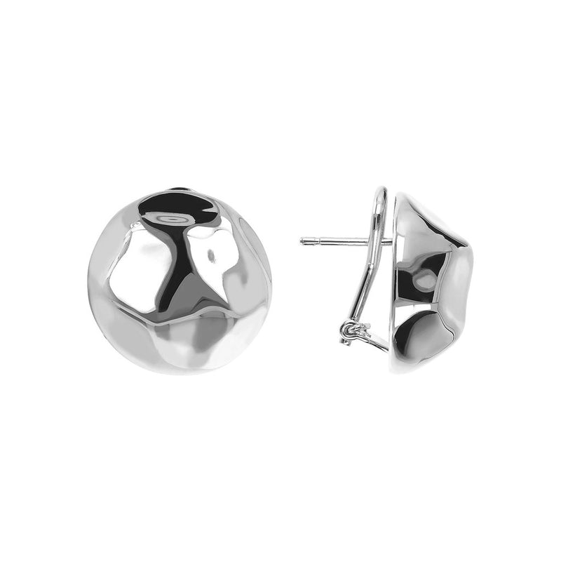 SUCH A PERFECT DAY MYESSENTIALS SHINY EAR OMEGA BACK Button EARRING - WSBC00067 front and side