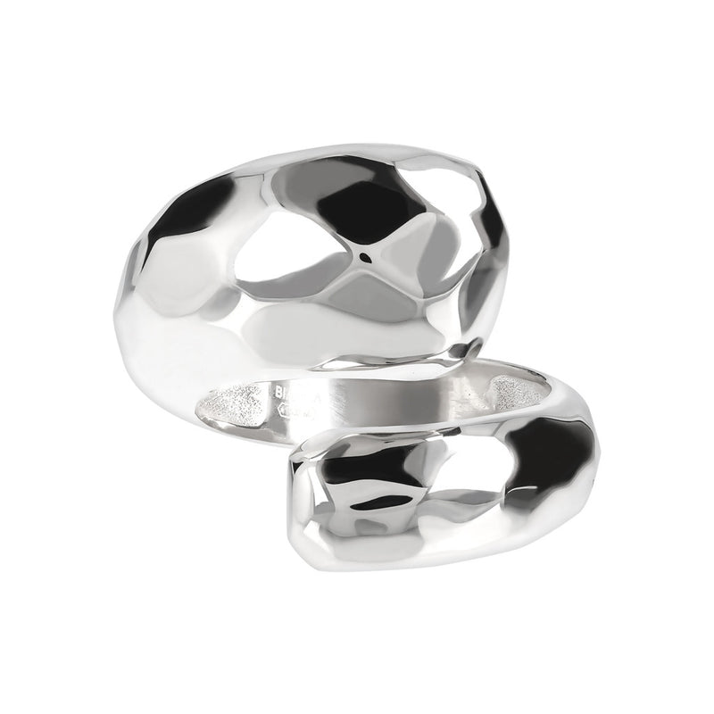 SUCH A PERFECT DAY MYESSENTIALS hammered shiny contrarie ring - WSBC00110 setting