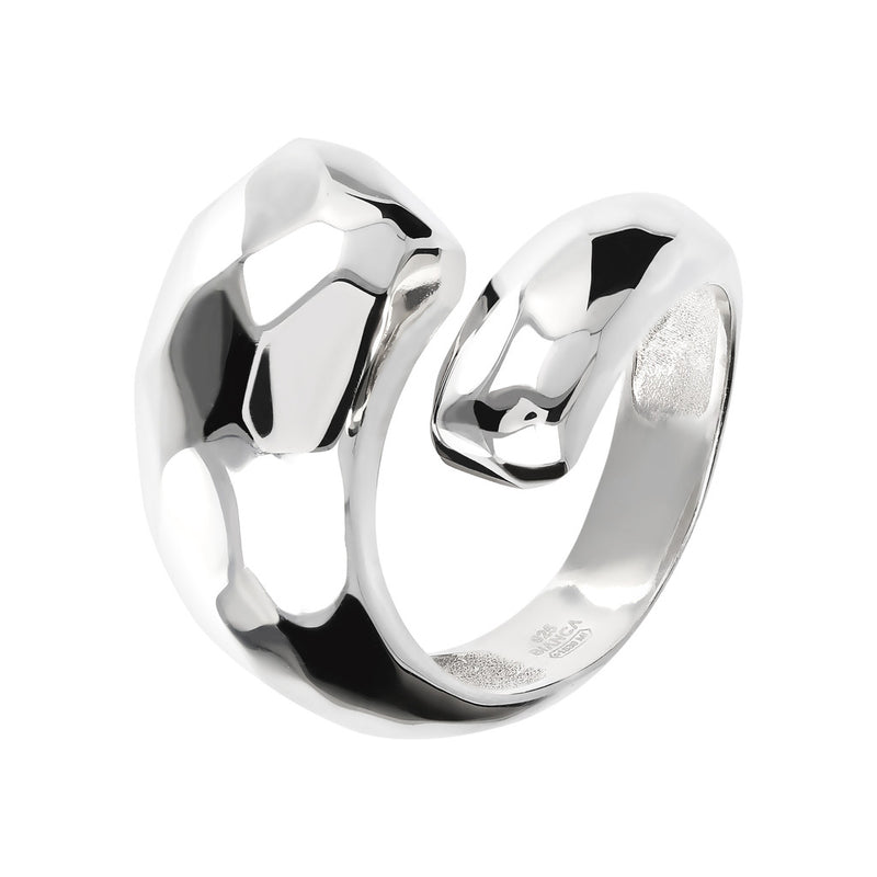 SUCH A PERFECT DAY MYESSENTIALS hammered shiny contrarie ring - WSBC00110