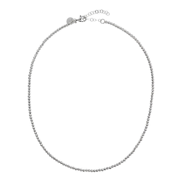SUCH A PERFECT DAY MYESSENTIALS triangular diamond cut BEADS necklace - WSBC00166 from above