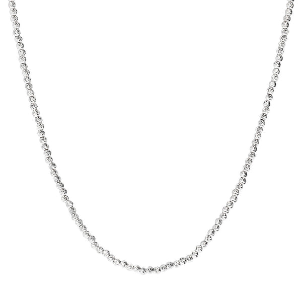 SUCH A PERFECT DAY MYESSENTIALS triangular diamond cut BEADS necklace - WSBC00166