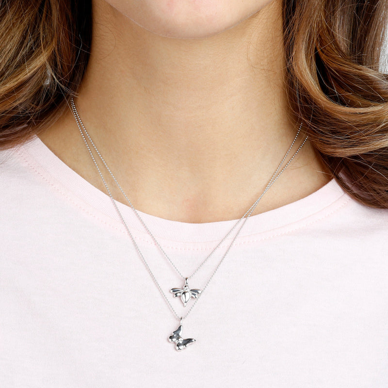 worn Dragonfly Pendant Necklace