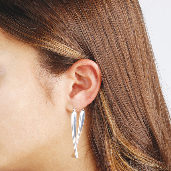 worn Rectangular Earrings
