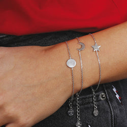 worn SPICE IT UP SPECIAL SHINY STAR FORZATINA BRACELET - CIRCLE - WSBC00186