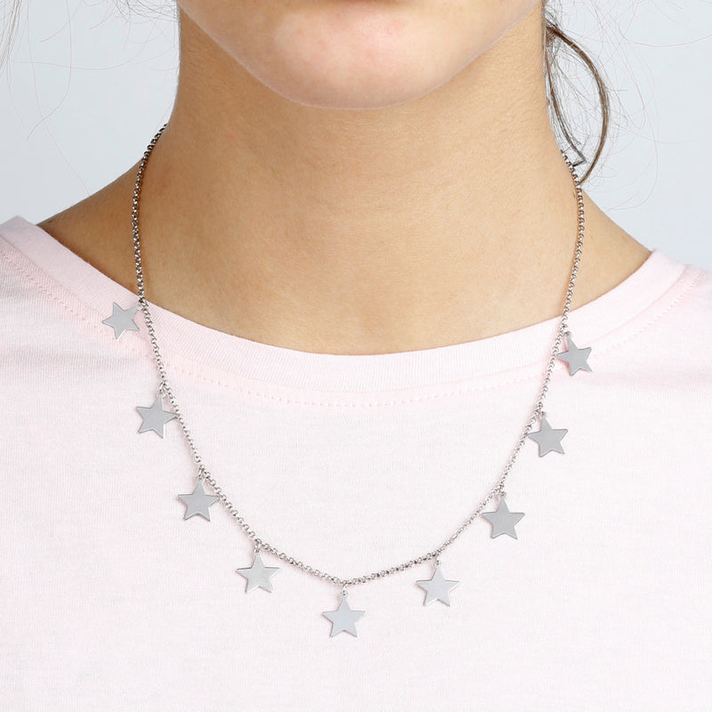 worn SPICE IT UP SPECIAL SHINY STAR ROLò NECKLACE - WSBC00184