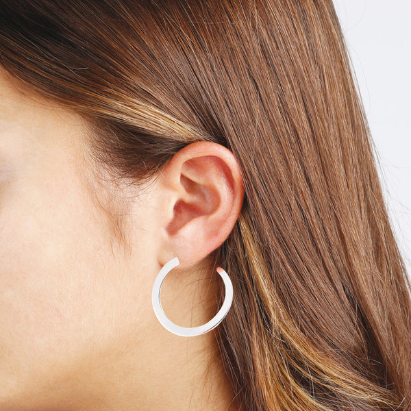 worn SUCH A PERFECT DAY MYESSENTIALS BIANCA MILANO ROUND OPEN CIRCLE EARRINGS - WSBC00059