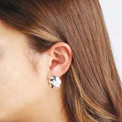 worn SUCH A PERFECT DAY MYESSENTIALS SHINY EAR OMEGA BACK Button EARRING - WSBC00067