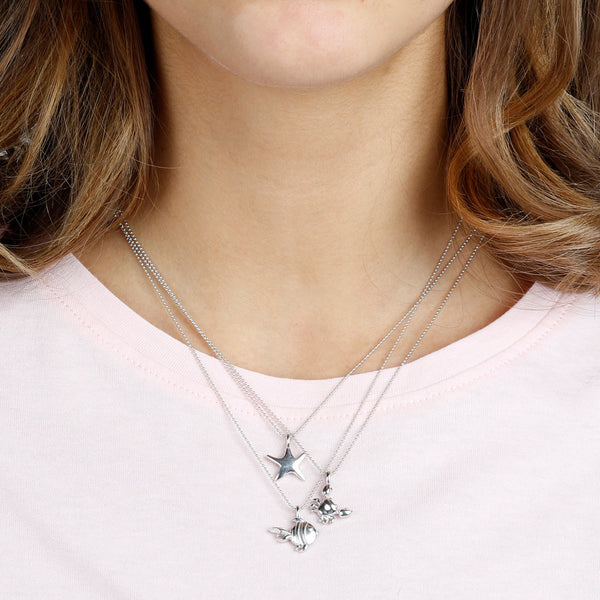 worn Starfish Pendant Necklace