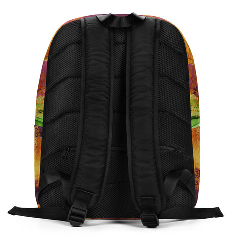 Vibrant Vegan Minimalist Backpack by Miss.Sexy