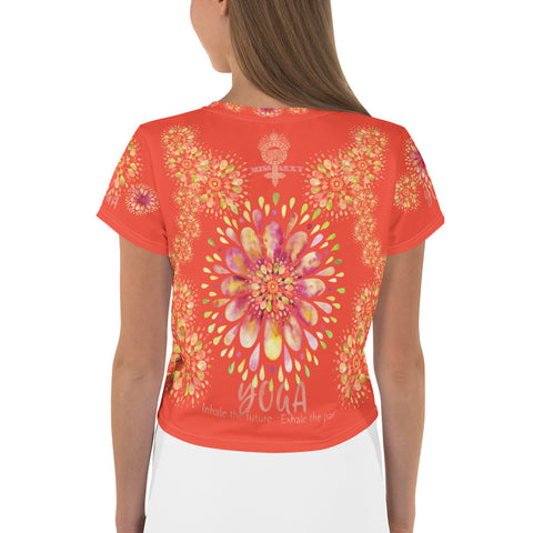 """YOGA"" by Miss.Sexy - Exclusive Yoga Crop Top for the YOGA Spirit in You - Bright Crop Tee"