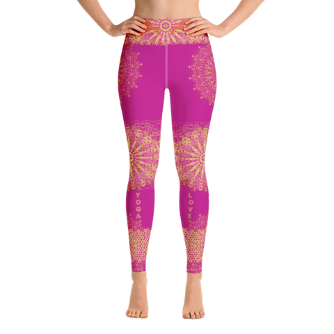 Yoga Leggings  - Pink
