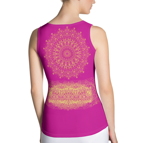 Image of Yoga Top - Pink - Sublimation Cut & Sew Tank Top
