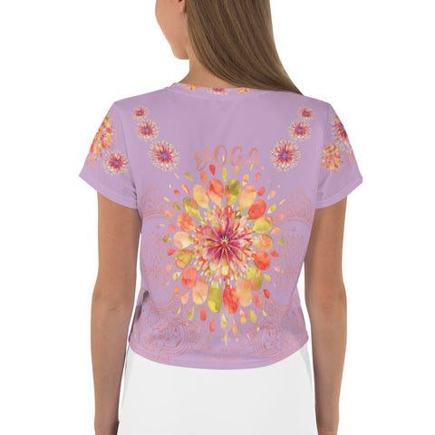 """YOGA"" by Miss.Sexy - Exclusive Yoga Crop Top for the YOGA Spirit in You - (Shade of Lilac Crop Tee)"