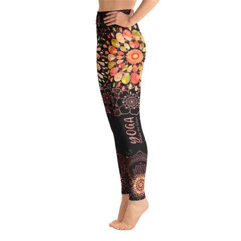 """YOGA"" by Miss.Sexy - Exclusive Yoga Leggings for your passion for YOGA - (black leggings)"
