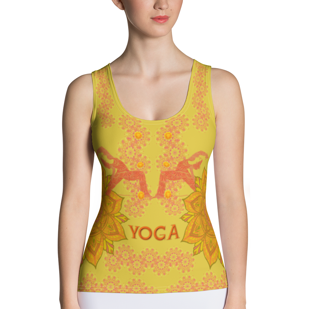 Yoga Top - Sandalwood Color - Sublimation Cut & Sew Tank Top