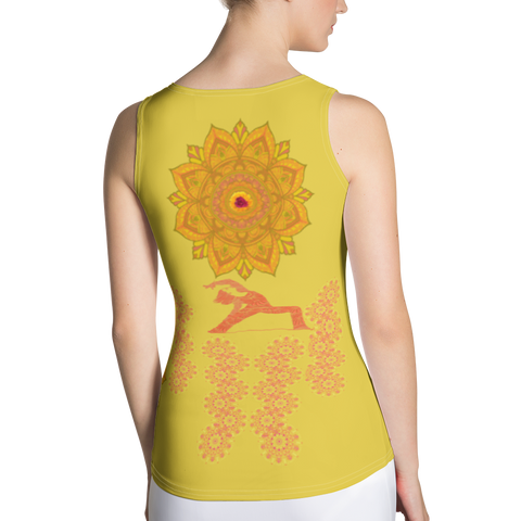 Image of Yoga Top - Sandalwood Color - Sublimation Cut & Sew Tank Top