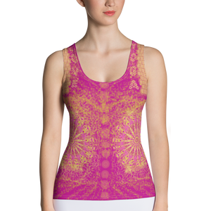 Yoga Top - Pink - Sublimation Cut & Sew Tank Top