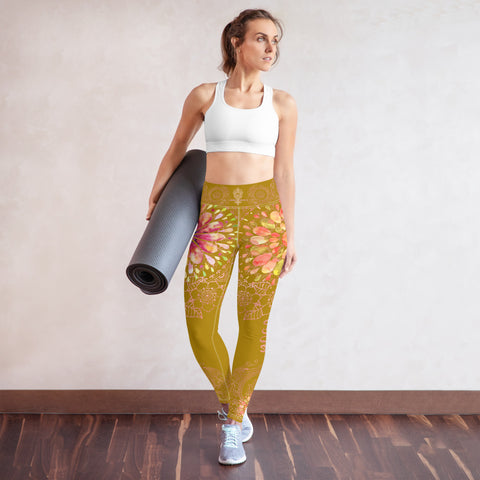 """YOGA"" by Miss.Sexy - Exclusive Yoga Leggings for your passion for YOGA - (shade of Mustard Colour)"