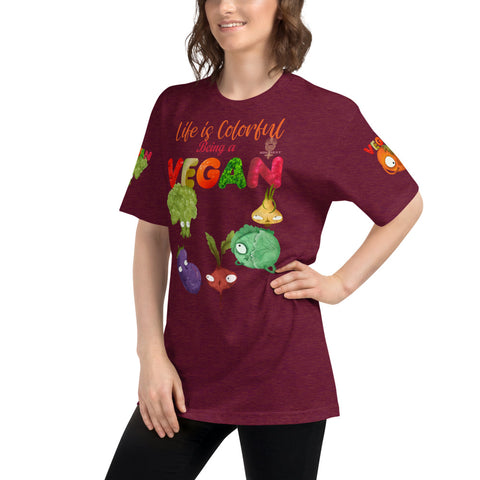 "Image of ""VEGAN"" by Miss.Sexy - Unisex Tri-Blend Track Shirt"