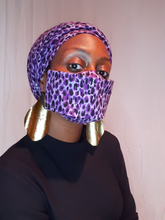 Load image into Gallery viewer, Zaina Set - Purple Leopard