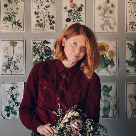 Anna Potter, founder of Swallows & Damsons, a UK-based flower shop.