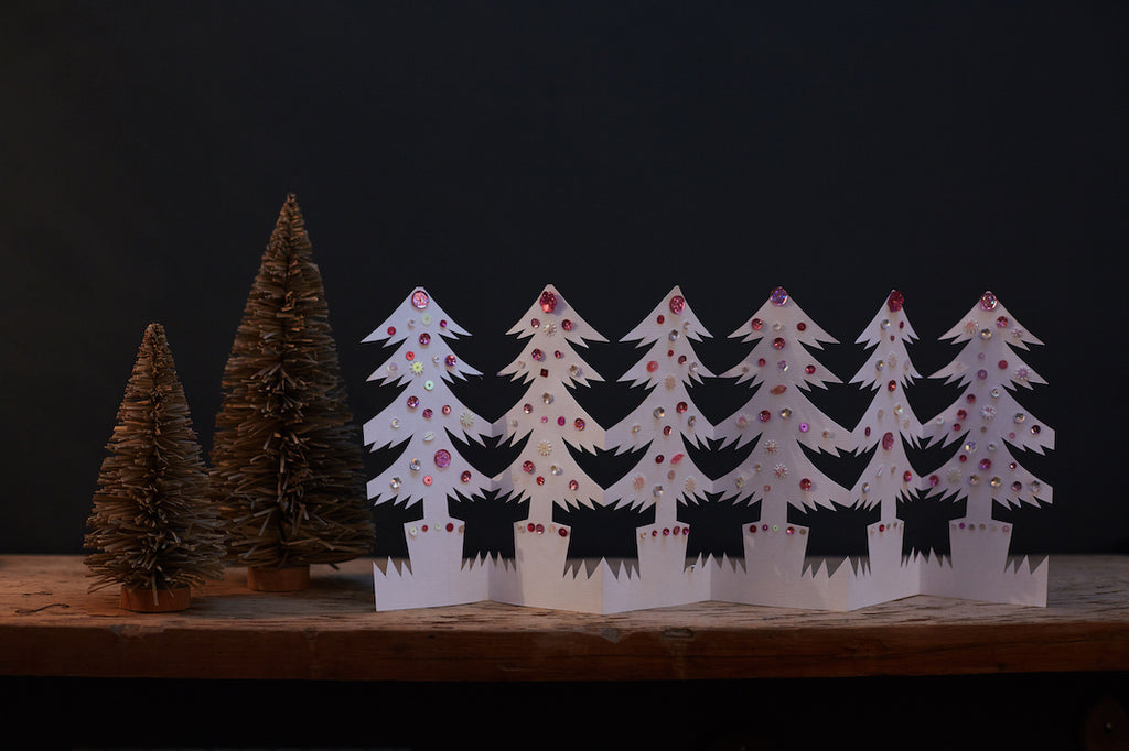 paper garland christmas trees