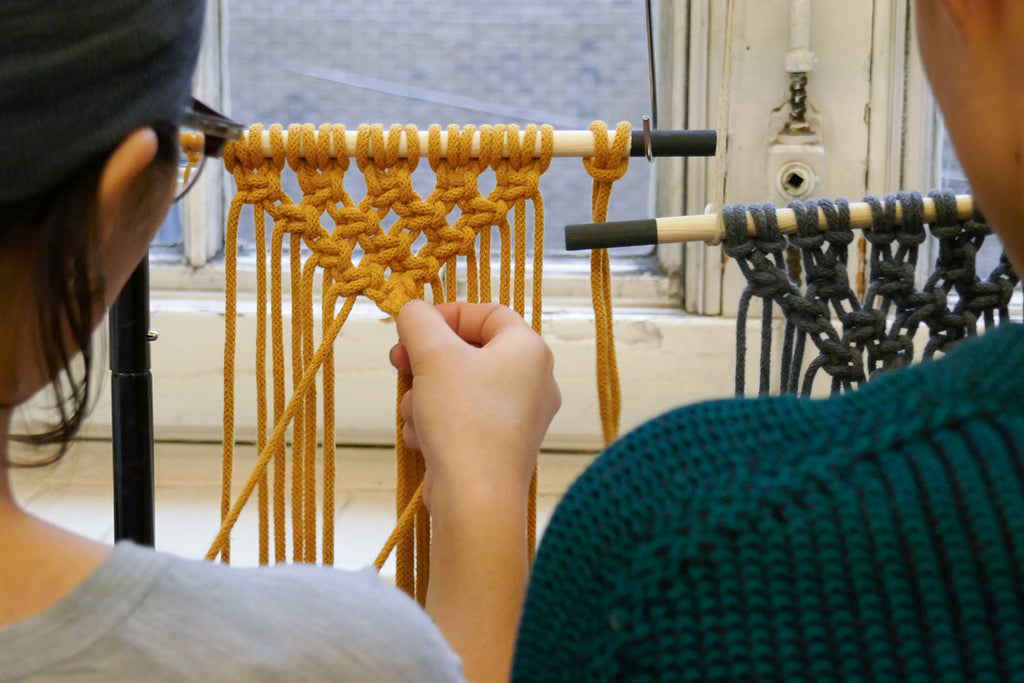 London college of fashion macrame workshop