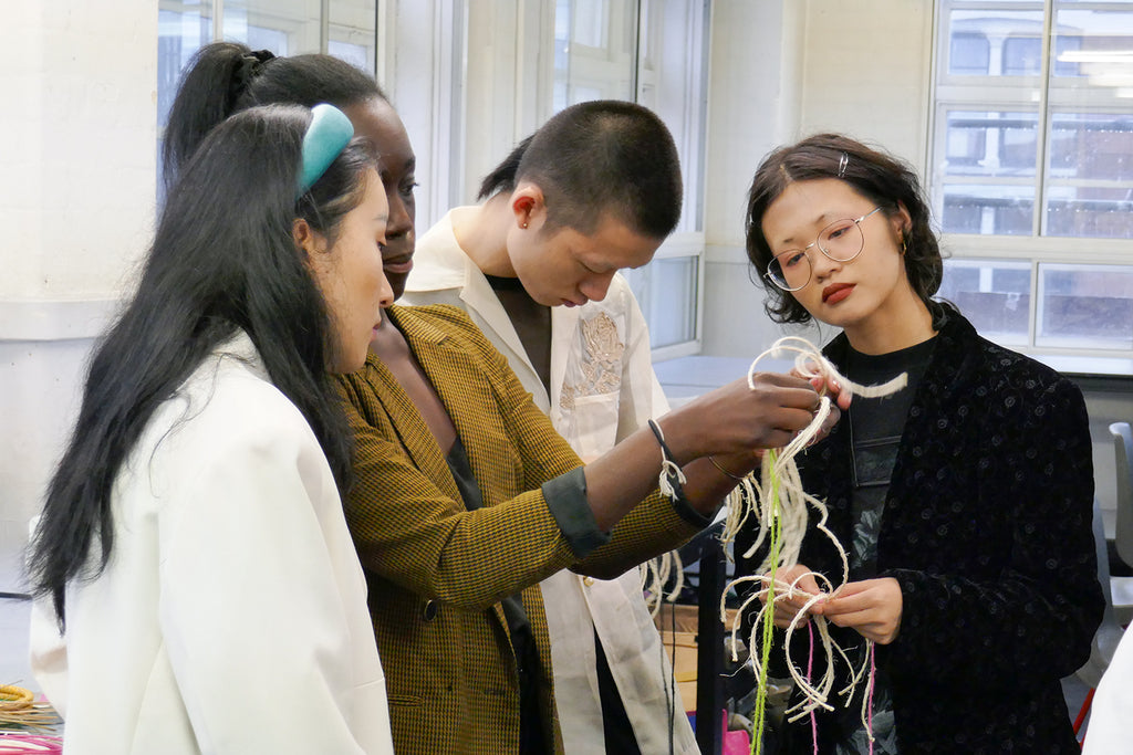 London college of fashion basket-weaving workshop
