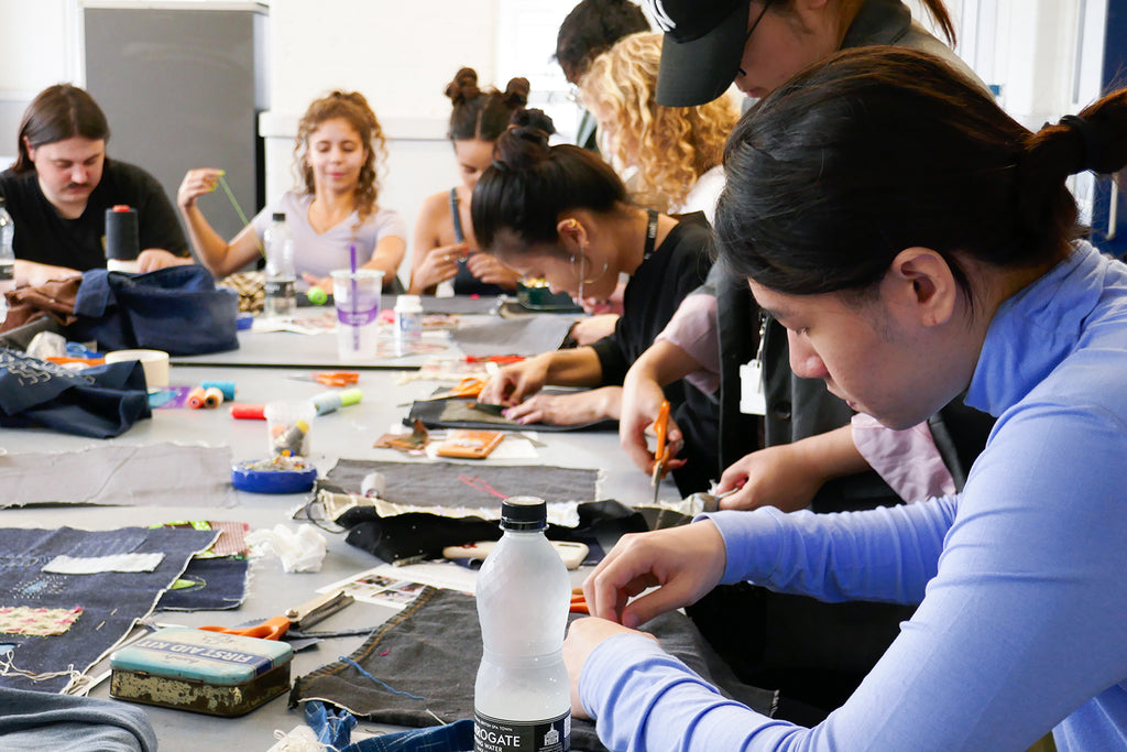 London college of fashion sashiko workshop