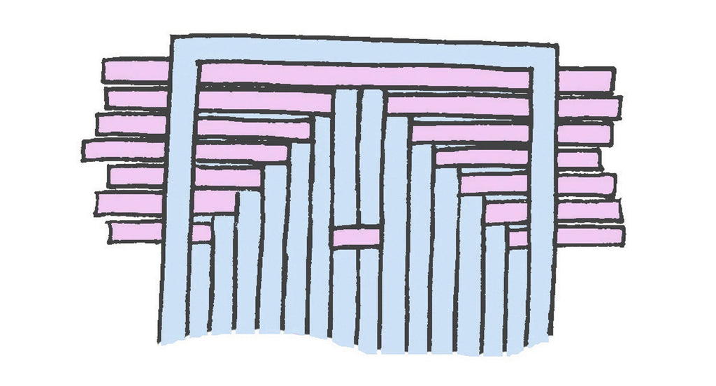 Illustration of woven paper pattern