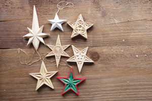 Carve a wooden star decoration
