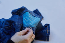 Load image into Gallery viewer, Repair your denim with sashiko-style stitching