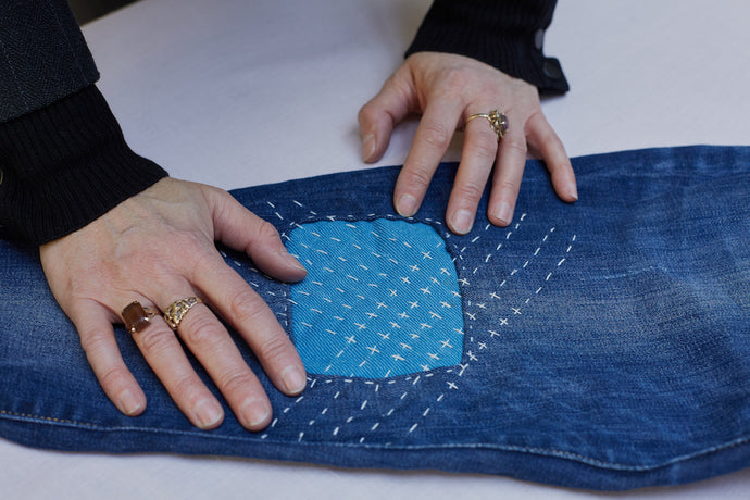 Repair your denim with sashiko-style stitching