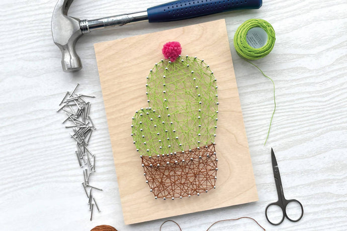 Flowering Cactus String Art: Kit + Guide