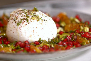 Burrata and burnt oranges