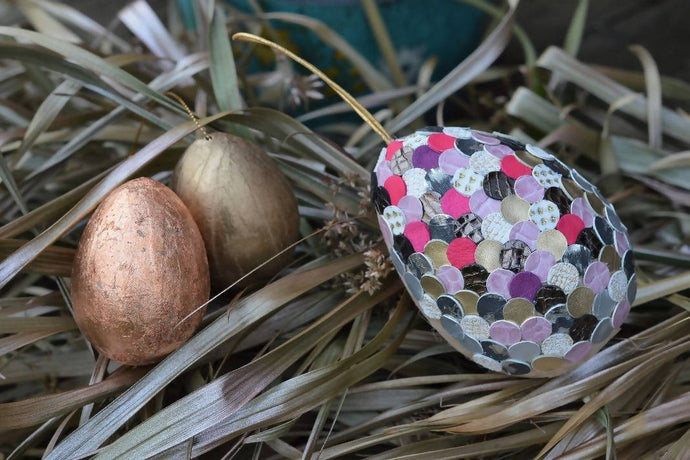 Make an Upcycled Leather Easter Egg: Kit + Guide